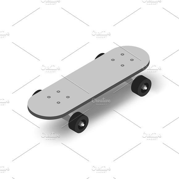 Vector Image Of Skateboard Icon