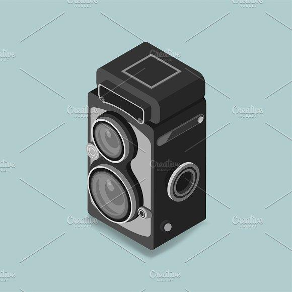 Vector Of Vintage Camera Icon
