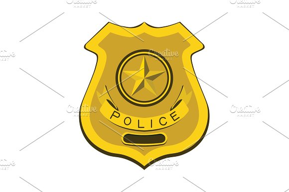 Police Badge Policeman Illustration