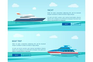 Modern Yacht for Sea Walk and Boat Trip Promotion