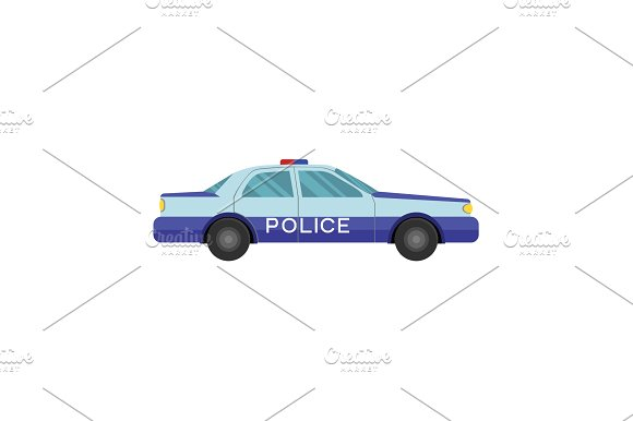 Color Vector Image Police Car