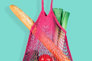 Trendy and eco shopping bag