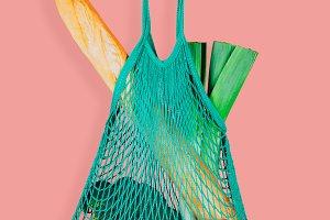 Fashionable eco string shopping bag