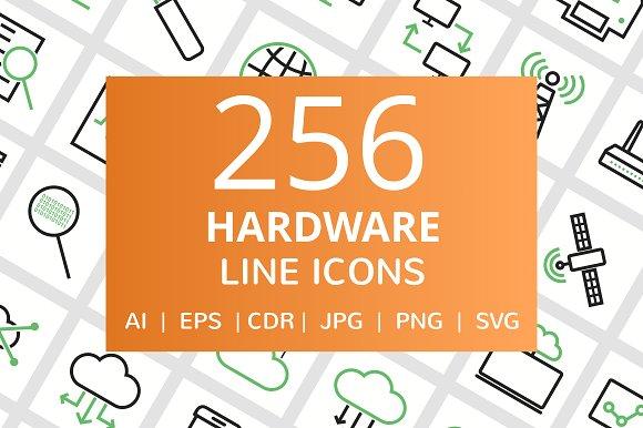 255 Hardware Line Icons