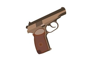 Color vector image. Pistol