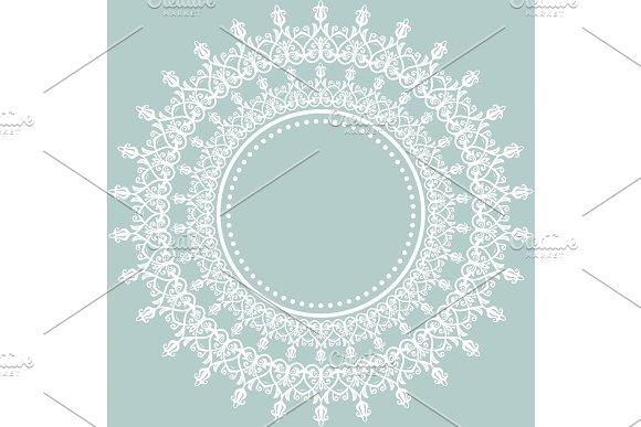 Elegant Vector Ornament In Classic Style