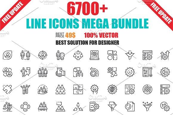Line Icons Mega Bundle