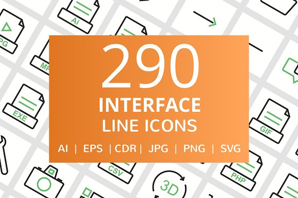 290 Interface Line Icons