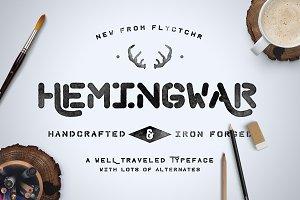 Hemingwar Font + Extras