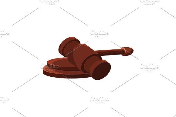 Referee's Hammer Judge's Gavel