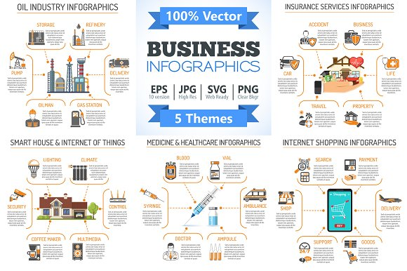 Business Infographics Themes