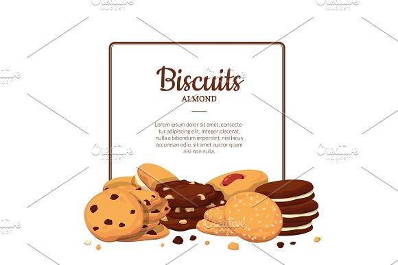 Vector Frame Cartoon Cookies