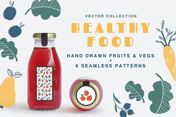 Healthy Food Vector Collection