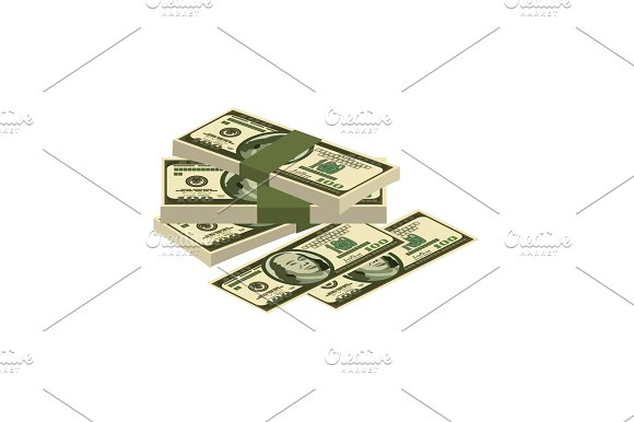 Pile Of Money Cash Dollars Vector