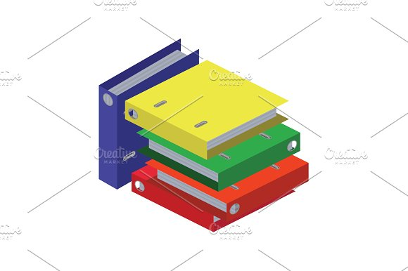 Stack Of Folders Bright Office
