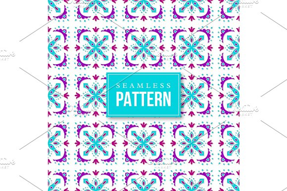 Seamless Ornamental Pattern Traditional Turkish Morrocan Arabesque Mexican Ornaments