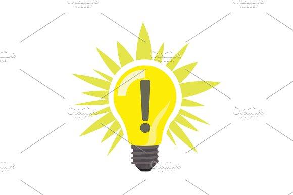 Sign Of Idea Light Lamp Bulb