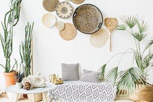 Boho style interior design