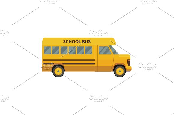 Color Vector Image School Bus