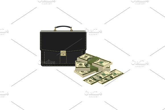 Portfolio Money Briefcase Cash