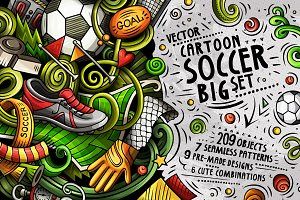 -30% Soccer Cartoon Doodle Big Pack