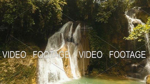 Beautiful Tropical Waterfall Philippines Siargao Island