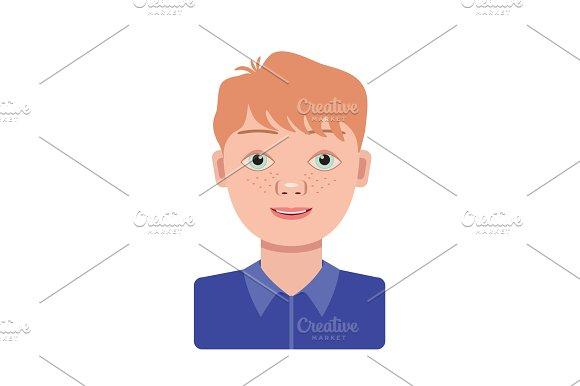 Color Vector Image Boy Schoolboy