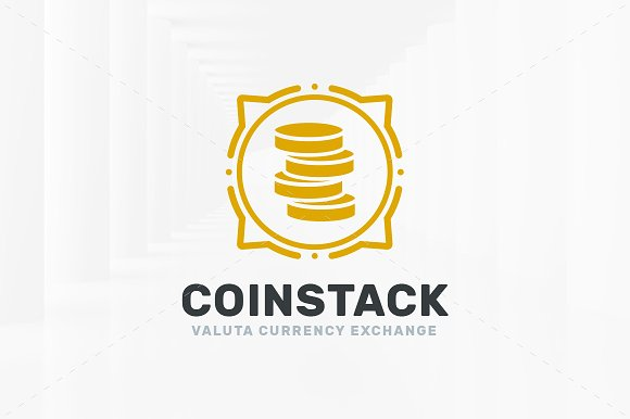 Coin Stack Logo Template