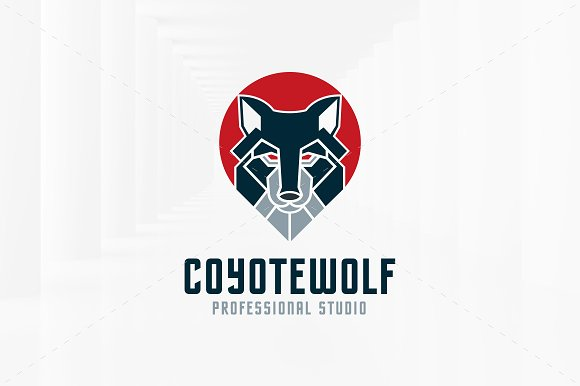 Coyote Wolf Logo Template