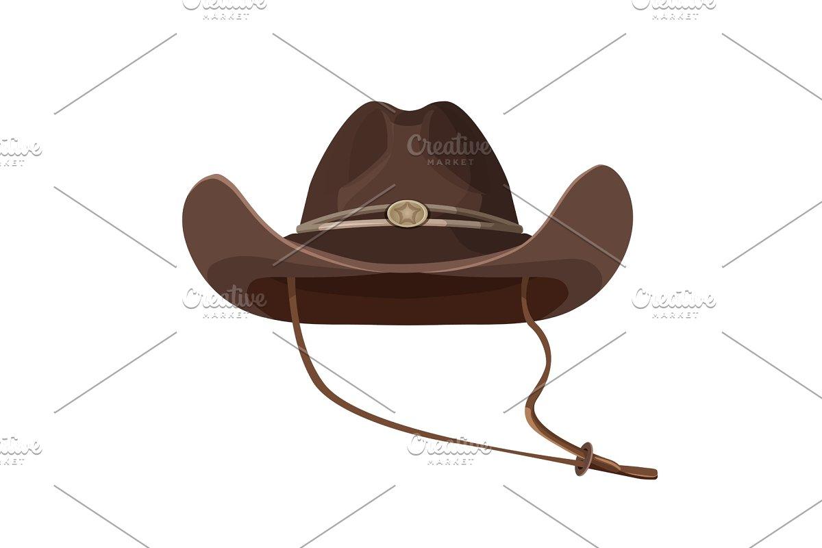 6dfa9f5b6 Vintage cowboy hat with lace in dark brown color