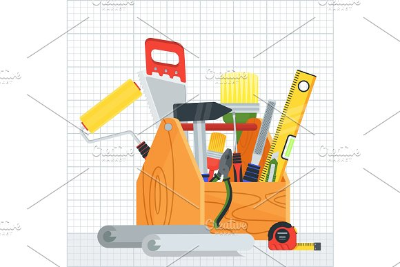 Poster With Construction Tools