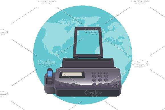 Fax Machine Telecopying Or Telefax Telefacsimile Telephonic Transmission