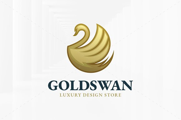 Gold Swan Logo Template