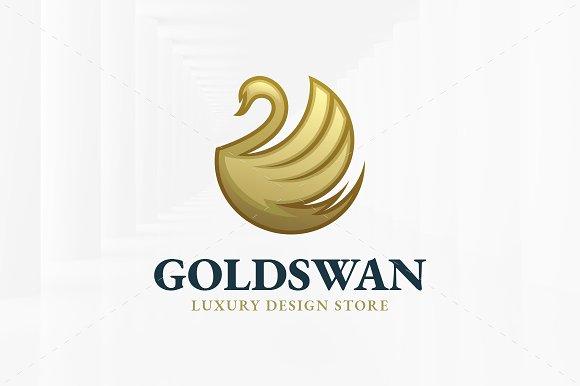 Gold Swan Logo Template