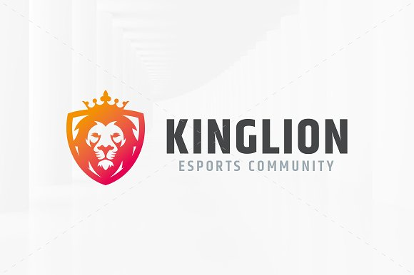 King Lion Logo Template