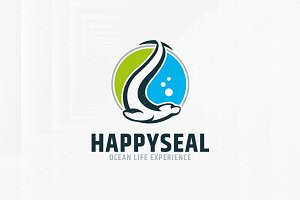 Happy Seal Logo Template