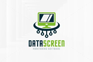 Data Screen Logo Template