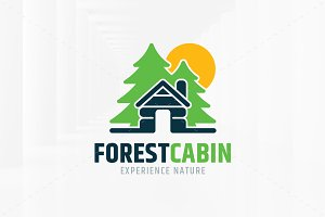 Forest Cabin Logo Template