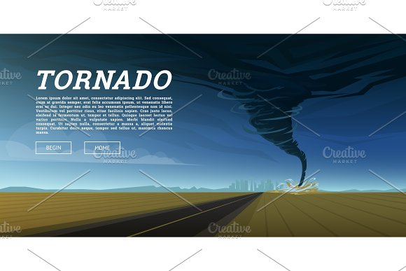 Twisting Tornado Or Storm From Sea Hurricane In Ocean Realistic Tropical Natural Disaster Or Cataclysm Catastrophe And Crisis Background Gale Whirlwind Landscape Weather Banner Poster Or Card