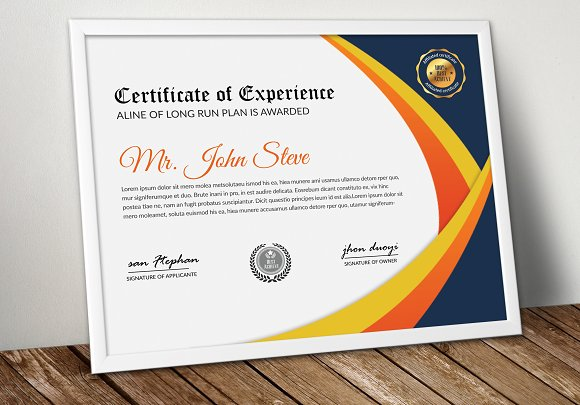 Certificate MS Word Template