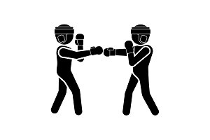 Vector illustration. Boxers icon