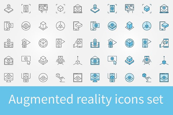 Augmented Reality Icons Set