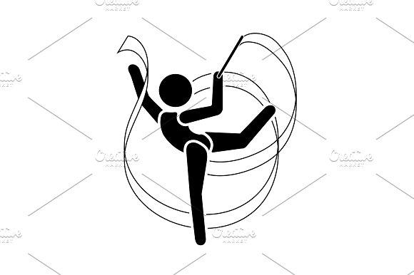 Gymnast Icon Gymnast With Ribbon