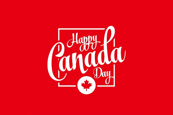 Canada Day Greeting Card Vector Pack