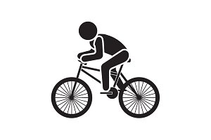 Vector illustration. Cyclist icon