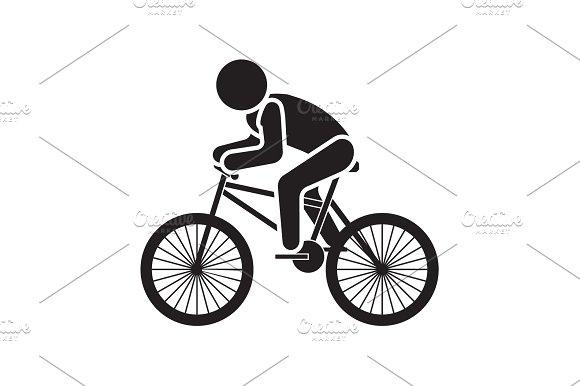 Vector Illustration Cyclist Icon