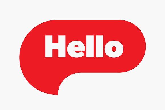 Hello Hi Quote Message Red Bubble