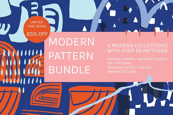 Patterns - Modern Pattern Bundle | 65% Off