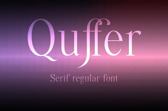 Quffer Serif Regular Font