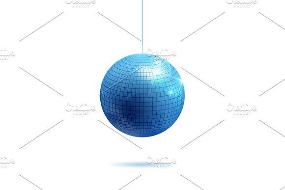 Sparkling Silver And Blue Disco Ball